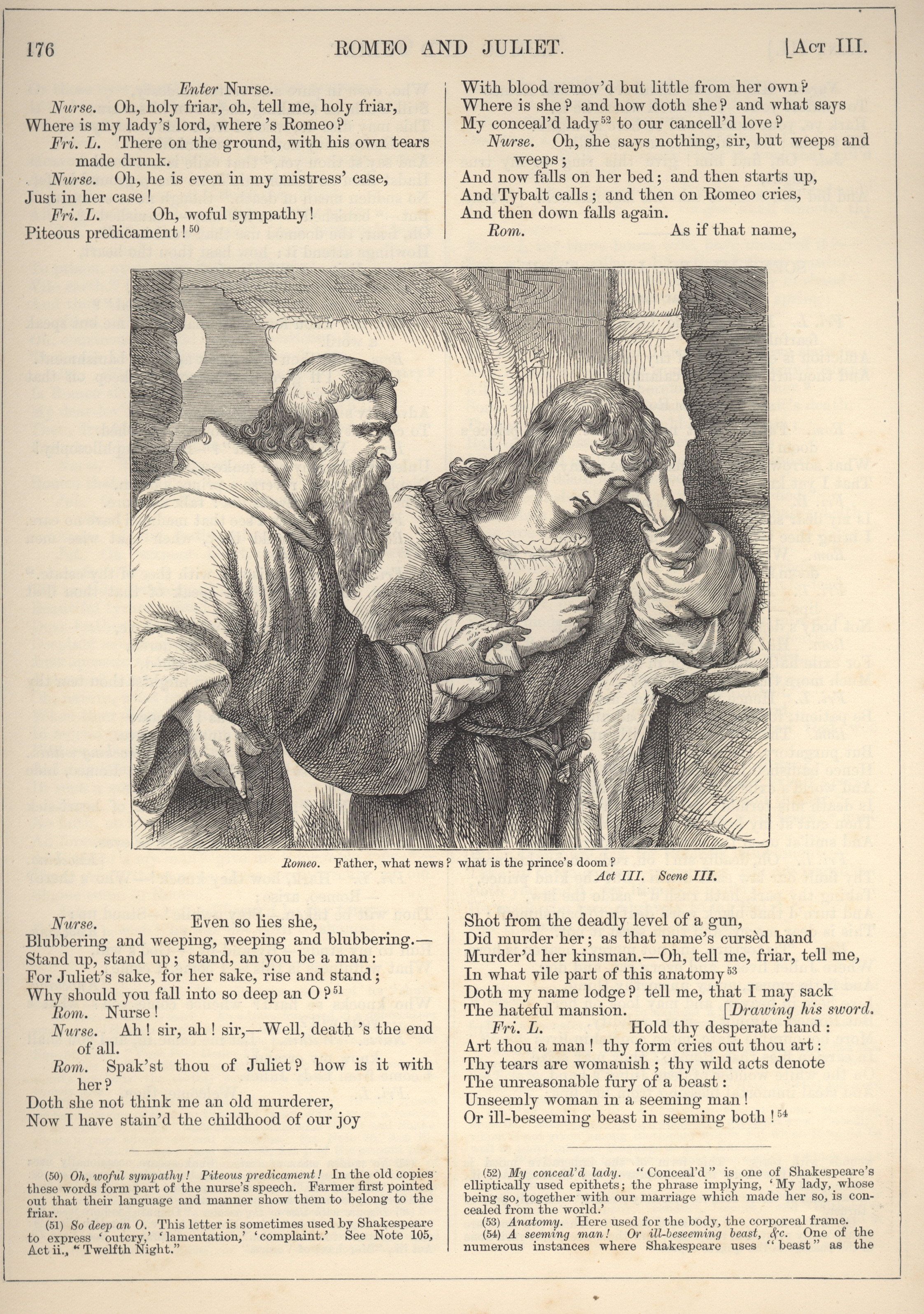 Romeo and Friar Laurence | Victorian Illustrated Shakespeare Archive