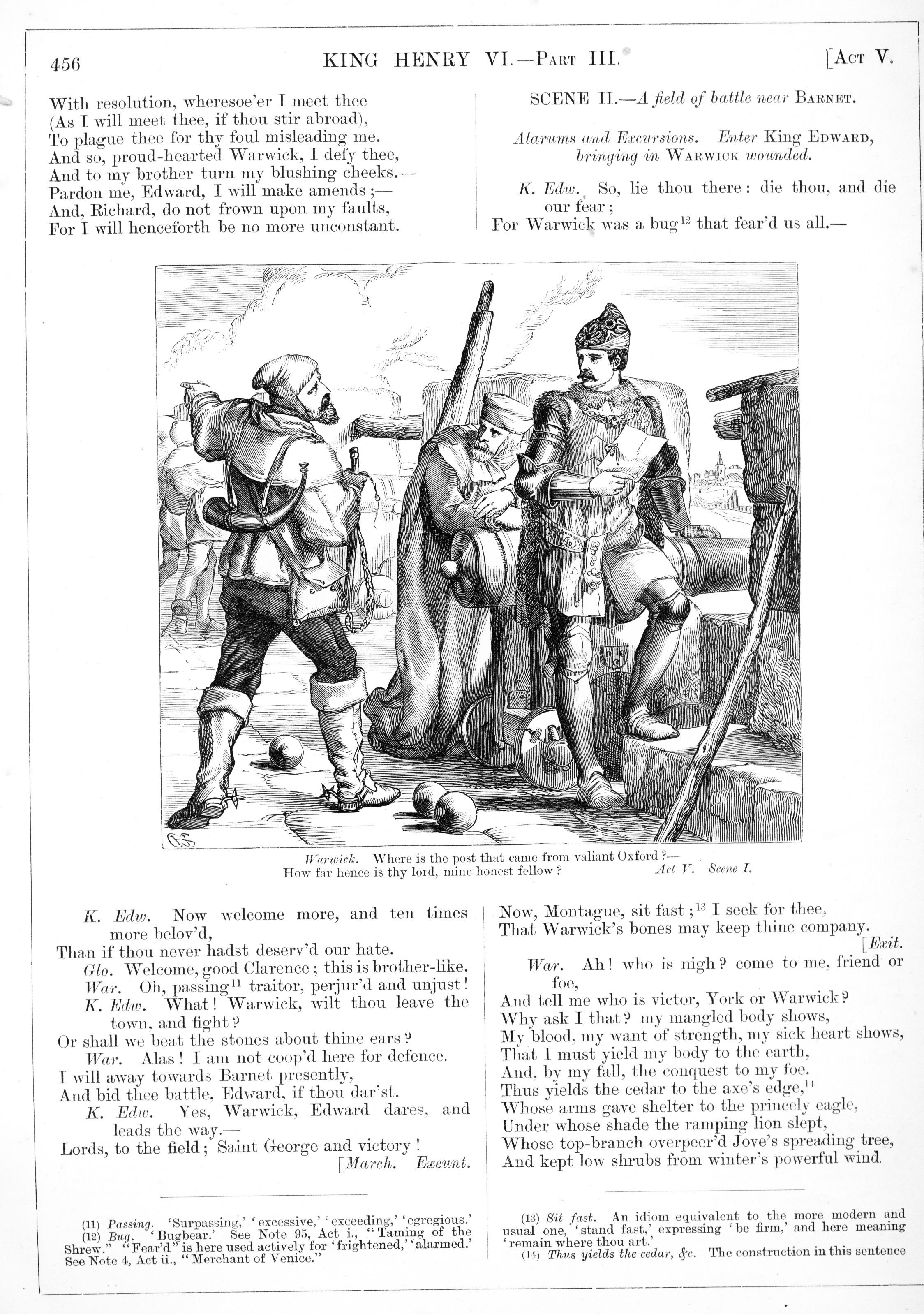H  C  Selous, King Henry VI Part III, Illustration #13 | Victorian